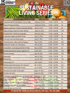 Cover photo for 2016 Sustainable Living Series Now Open for Registration!