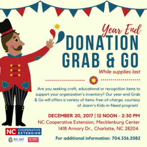 Cover photo for Year End Donation Grab & Go!
