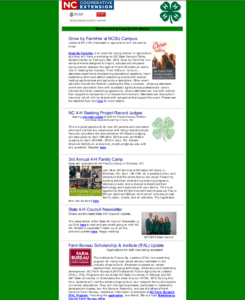 Cover photo for Mecklenburg 4-H eUpdate