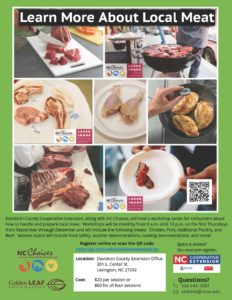 Cover photo for Learn More About Local Meat Davidson County Cooperative Extension | Fall 2018