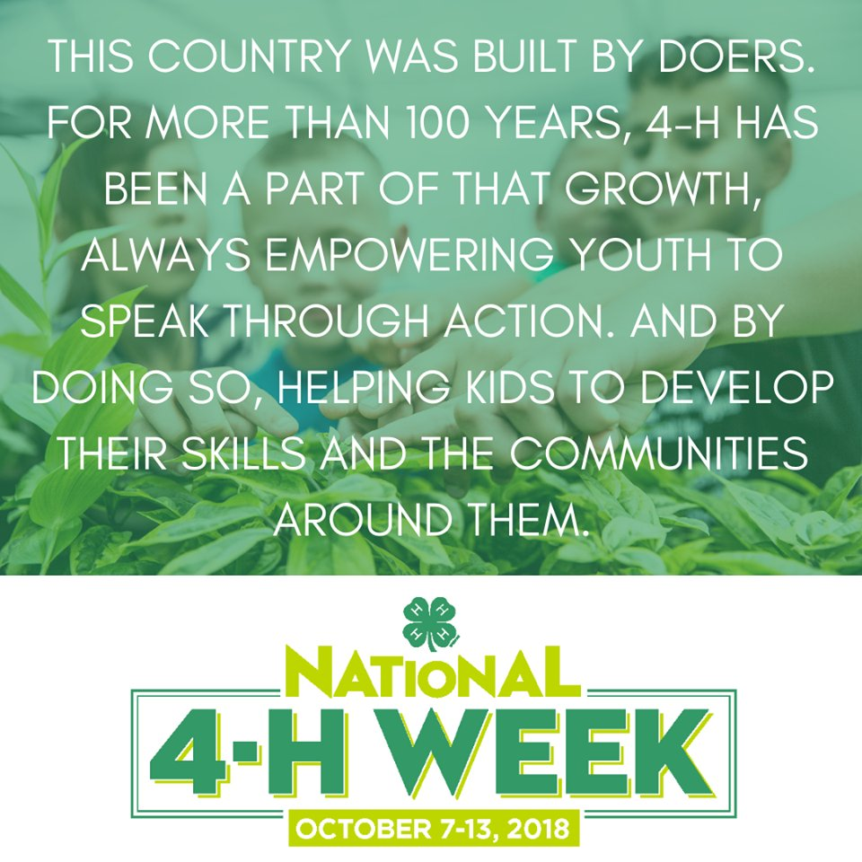 National 4-H Week flyer image