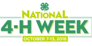 Cover photo for Happy National 4-H Week 2018!