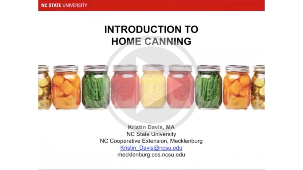 Introduction to Home Canning