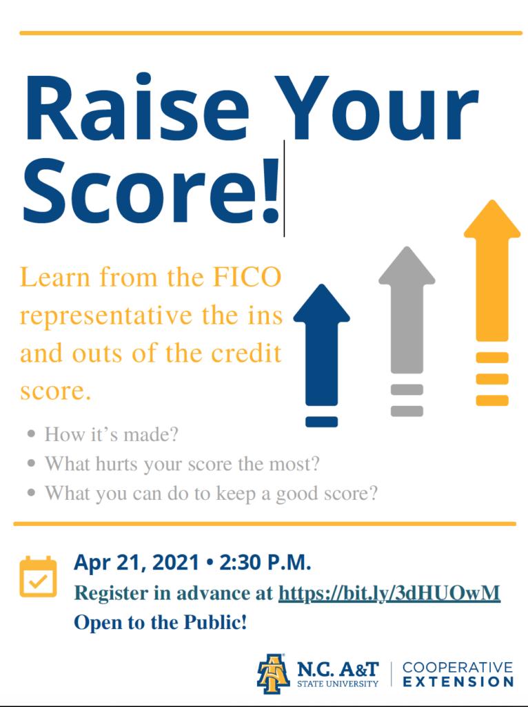 Raise Your Score flyer image