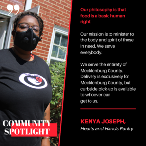 Cover photo for Mecklenburg Extension Community Spotlight: Kenya Joseph, Hearts and Hands Pantry