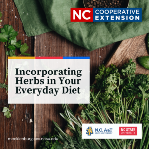 Cover photo for Incorporating Herbs in Your Everyday Diet