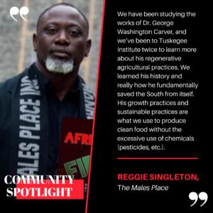 Cover photo for Mecklenburg Extension Community Spotlight: Reggie Singleton, The Males Place